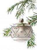 Christmas Ball On Branch