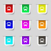 picture of bus driver  - Bus icon sign - JPG