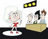 Dibujos animados de concurso de talento