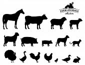 picture of working animal  - Farm animals silhouettes collection - JPG