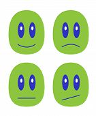 image of emoticons  - It is a small set with emoticons - JPG