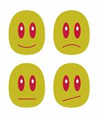 picture of emoticons  - It is a small set with emoticons - JPG