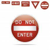 pic of traffic sign  - do not enter 4 - JPG
