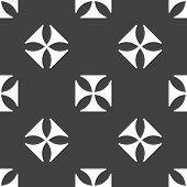 image of maltese  - Version of maltese cross repeated on grey background - JPG