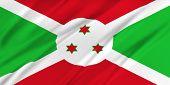 picture of burundi  - Flag of Burundi waving in the wind - JPG