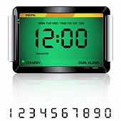 Digital Alarm Clock Green