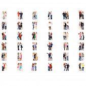stock photo of threesome  - Office Culture Achievement Idea  - JPG