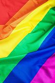 image of gay flag  - Fabric texture of the Gay flag background - JPG