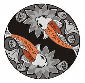 stock photo of koi tattoo  - Decorative fishes - JPG