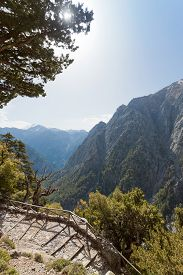 stock photo of samaria  - At the entrance of the gorge of Samaria, Crete, Greece ** Note: Visible grain at 100%, best at smaller sizes - JPG