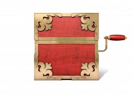 picture of jack-in-the-box  - An ornate antique closed jack - JPG