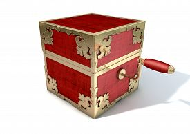 stock photo of jack-in-the-box  - An ornate antique closed jack - JPG