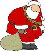 foto of santa-claus  - this illustration depicts a sad santa claus - JPG