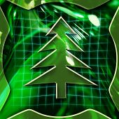 Christmas Tree Icon Deactivated