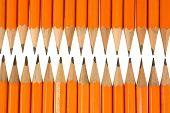 Orange Pencil Tips Close Up