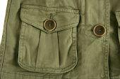 Green Jacket Pocket Militar Inspired Fashion Detail