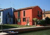 Burano Venice Italy colorful colourful houses
