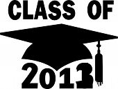 Class Of 2013 School Mortar Board Graduation Cap