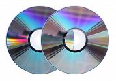 Two Cd / Dvd Disks Isolated On White