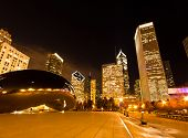 The Millennium Park In Downtown Chicago