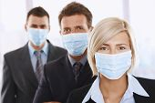 Business People Fearing H1N1 Virus