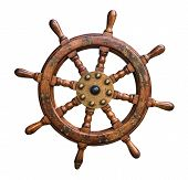 Isolated Ships Wheel poster