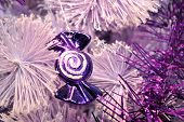 Purple Candy Christmas Decoration
