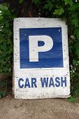 sign for carwash