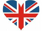 Great Britain Heart - Vector Illustration