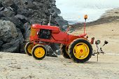 Tractor On Beach