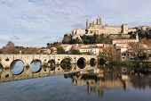 Beziers Cathedral And Old Bridge