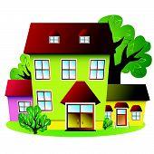 Houses of small green settlement.eps