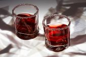 Brandy Glasses On A White Bright Background