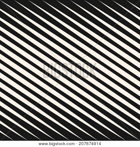 Vector Geometric Halftone Diagonal Lines Seamless Pattern Black And Fascinating Line Pattern Vector