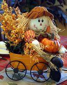 Autumn Scarecrow Centerpiece Decor