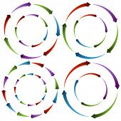 An image of flowing arrow wheels.