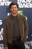 LOS ANGELES - JUNE 5:  Patrick Dempsey arrives at the the 2011 MTV Movie Awards at Gibson Ampitheatr