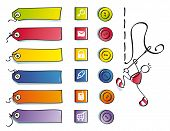 Funny Buttons, And Symbols For Sewing Web