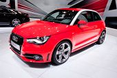Moscow, Russia - August 25: Red Sport Car Audi A1 At Moscow International Exhibition Interauto On Au