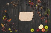 Autumn Leaves And Blank Parchment poster
