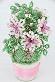 Flower Pink Beadwork poster