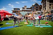 Group Yoga during the 10th Teva Mountain Games