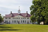 Front View Of Washington'S Mount Vernon Home