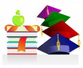 graduation background with books. vector