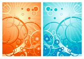 Vector background with bubble