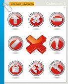 Colección gráfica de COLLECTION_2 Vector de iconos estilizados para web de navegación. Conjunto de símbolos abstractos