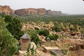 pic of dogon  - A village of Dogon tribe at Bandiagara Escarpment in Mali - JPG