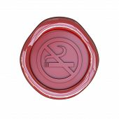 Wax seal with No smoking sign