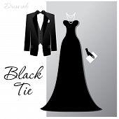 Постер, плакат: Черный галстук