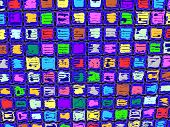 Colorful Square Grunge Abstract Design